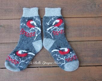 Womens knit socks, grey socks, woolen socks,  wool socks, knitted socks, socks, warm socks,