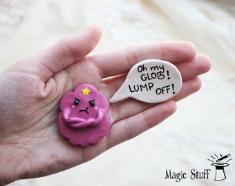 Adventure Time magnet Angry LSP  Angry Lumpy Space Princess magnet Fridge magnets Decorative magnets Oh my Glob, Lump off