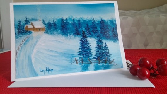 Christmas/landscape map winter/winter/Christmas/trees/forest/card to wish the holiday/Christmas/greeting of the new year greeting card-CC-LP-0057