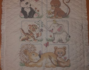 Animal Babes Baby Quilt