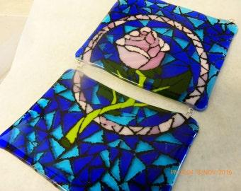 2 part Rose plaque suncather