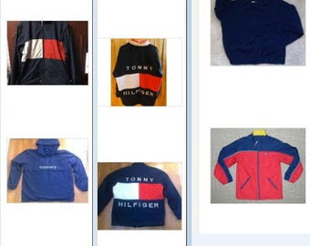 LOT OF 10 items of 9 Tommy Hilfiger jackets and 1 Ralph Lauren jacket for sale together