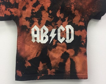 ABCD Distressed Baby Top