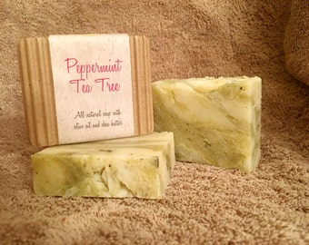 Peppermint Tea Tree Handmade Soap Vegan Soap