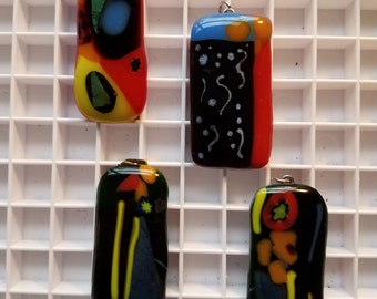 Dichroic or fused glass pendant
