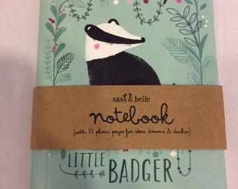 Woodland note book - Badger design