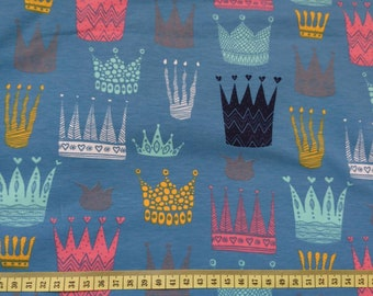 Crown on lovely dennim blue jersey.one  unit is 0.5 metre
