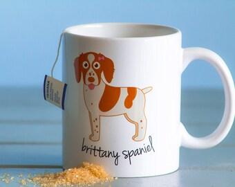Brittany Spaniel Mug (girl)