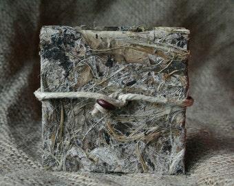 Plant textures - tiny accordion book, unique - agave plant paper cover