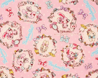 """Bonbon Ribbon Sanrio Character Oxford Fabric made in Japan FQ 45cm by 53cm or 18"""" by 21"""""""
