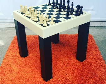 70s Plastic Parsons table Chess set *FREE SHIPPING*
