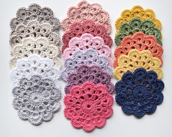 SET OF FOUR Crochet Coasters (4)