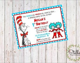Dr. Seuss Party Invitation (Digital Download)