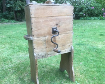 Antique Vintage French Victorian Butter Churn