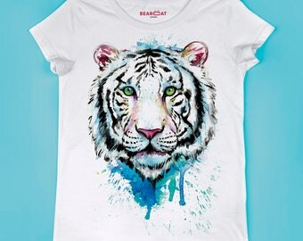 Tiger t-shirt, T shirt art, T shirt animal, XS, S, M, L, XL