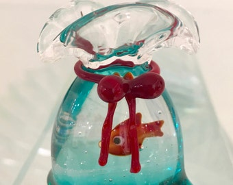 Fish in a bag murano glass
