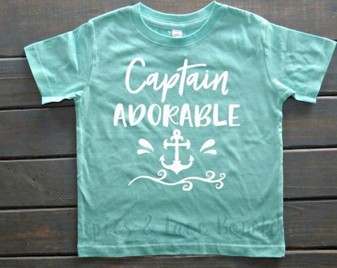 Captain Adorable T-Shirt, Boys' Clothing, Cute Boys Shirts, Boys' Summer Tees, Baby Shower Gift