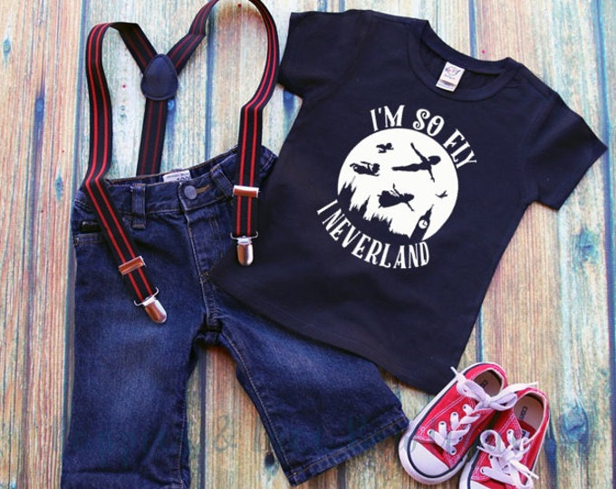 So Fly I Neverland, Funny Kids' T-Shirt, Peter Pan Shirt, Lost Boy Shirt, Baby Shower Gift, Hipster Baby