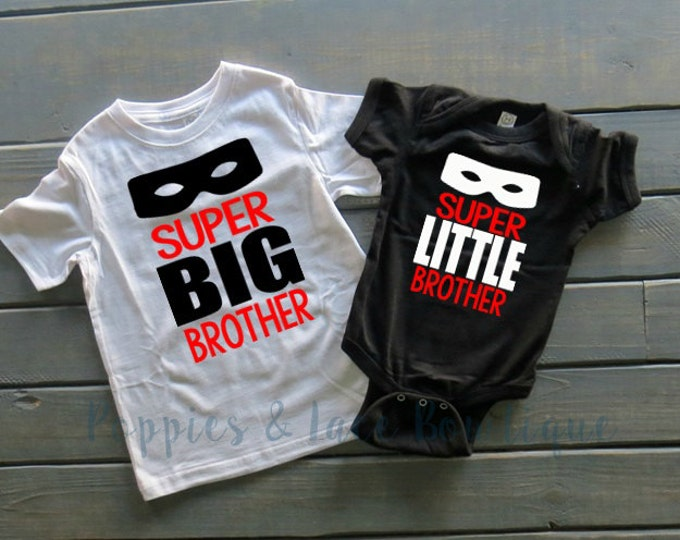 Brother Shirt Set, Superhero Brothers,Pregnancy Announcement, Big Brother Shirt, Little Brother Shirt, Baby Shower Gift, Pregnancy Reveal