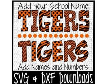 Tigers * Spirit Wear * Spirit Shirt Cutting File - DXF & SVG Files - Silhouette Cameo, Cricut