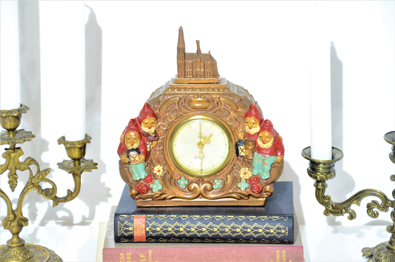 Vintage Carmen Gnome Clock Germany Dom Zu Koln Duitsland Uhr