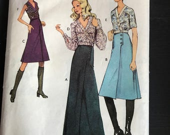 Vintage Style Top & Skirt Sewing Pattern 3296