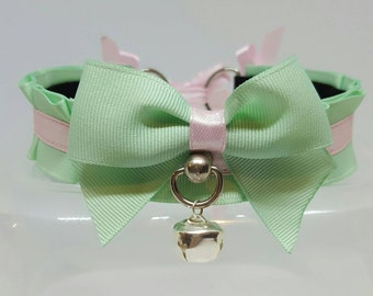 ON SALE*** Mint and pink, 12 1/2 inches collar