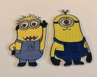 Set 2 stuks - Minion patches - Iron On