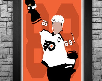 ERIC LINDROS minimalism style limited edition art print. Choose from 3 sizes!