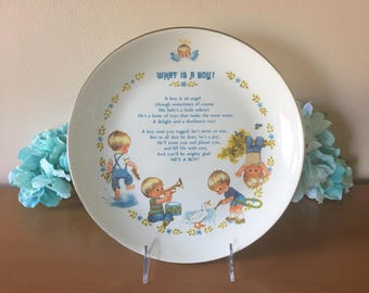 "Gibson Greeting Cards ""What Is A Boy"" Keepsake Collector Plate"