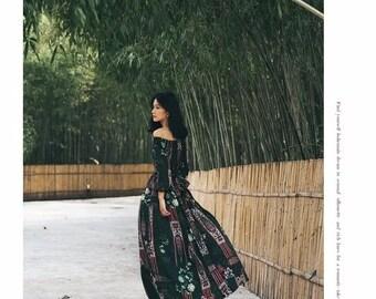 ON SALE!! Boho dress Bohemian dress boho dresses halter gypsy dress peasant dress festival dress maxi dress hippie dress spirit dresses