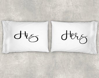 His and Hers Pillow Case Set, Couples Pillow Case Set,Custom Pillow Case Set, Beautiful Personalized Pillow Cases, Valentine's Day!