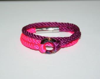 """Kumihimo Bracelet """"Cosmic ring """"Volcano"""""""