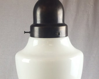 Acorn Shaped Milk Glass Pendant Lights