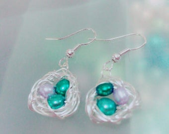 Nested Earrings, Spring, Jewelry, Unique, Rare, Mothers, Grandmothers,