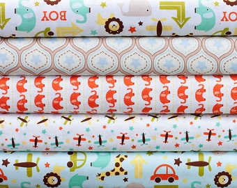 Oh Boy Fabric, Fabric Bundle, Quilting Fabric Bundle, Fat Quarter Bundle, Half of a Metre Fabric, Riley Blake Fabric