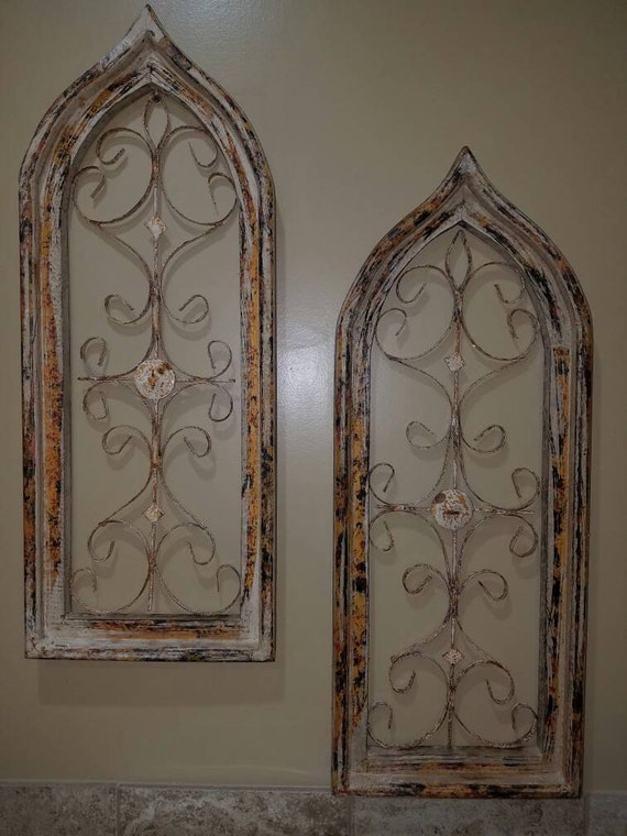 arched window wall decor farmhouse character metal ForWindow Arch Wall Decor