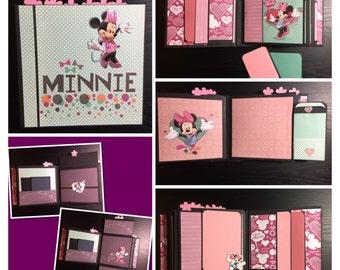 Disney Photo Album-Minnie Mouse Scrapbook-Minnie Album-Disney Mini Album-Minnie Mouse Album-Mini Album-Minnie photo book