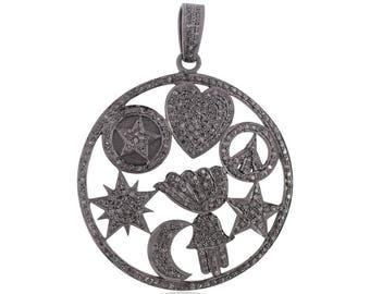 Micro Pave Diamond 925 Sterling Silver Beautiful Jewelry