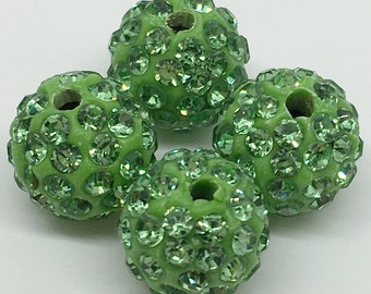 50pcs -8mm 10mm 12mm Pave Crystal Beads, Shamballa Beads,Disco Ball Beads For Jewelry Making