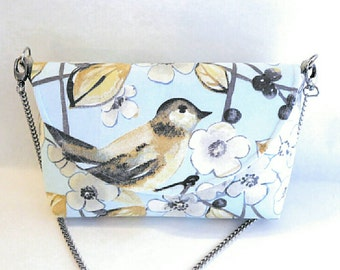 Bird purse - bags and purses - bird lover gift - handmade purses - shoulder bag purse - cloth handbags - gift for her - floral fabric