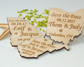 Save the date invitations, Save the date magnets, Save the date magnet, Save the date wedding , Save the date magnet rustic, States magnets