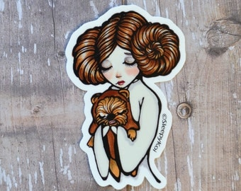 """3 Inch """"GoodBye Princess"""" Vinyl Sticker Inspired by Princess Leia. Planner Accessories Back to School Laptop Phone Stationery Journal"""