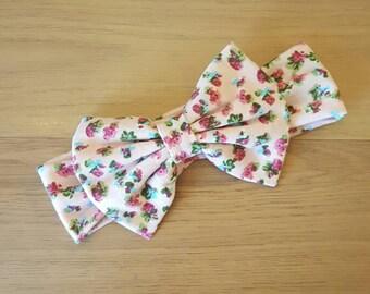 Floral headband, big bow headband, stretchable floral headband, baby hair  accessories, girls floral headband,