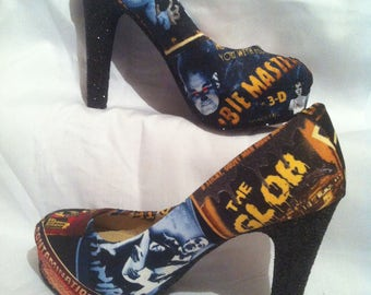 universal monsters / horror  heels / shoes * * * sizes uk 3-8