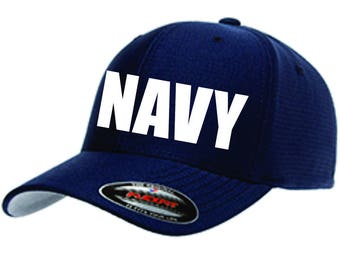 NAVY Hat with Personalized Back