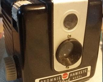 Brownie Hawkeye camera flash model late '50's cool , how it all began