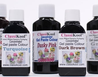 "Classikool ""Mardi Gras"" 30ml Gel Food Colouring Set (violet purple, sun yellow, moss green) (Free UK Mainland Postage)"