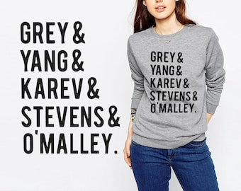 Greys Anatomy sweatshirt Throwback Cast Greys Anatomy Sweater Unisex S - XXL