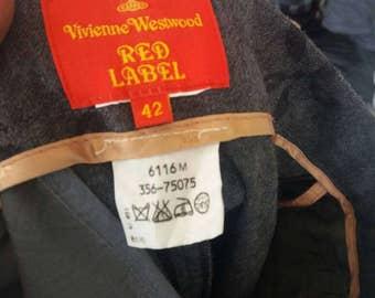 Vintage Vivienne weswood redlabel 42 size/made in japan/fullprint design/japan style/waist 42(26-27 inch)